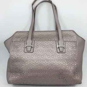 COACH XL Tan Leather Cut Out Design Shoulder Bag